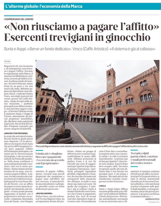 ASPPI Treviso: Coronavirus: «Famiglie in affitto dimenticate dal decreto Cura Italia»