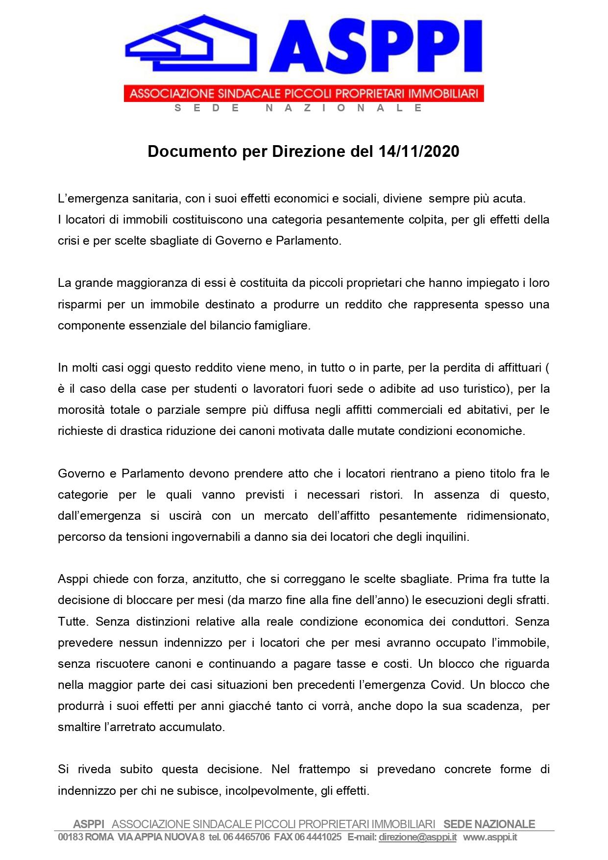 ASPPI: 5 richieste a Governo e Parlamento