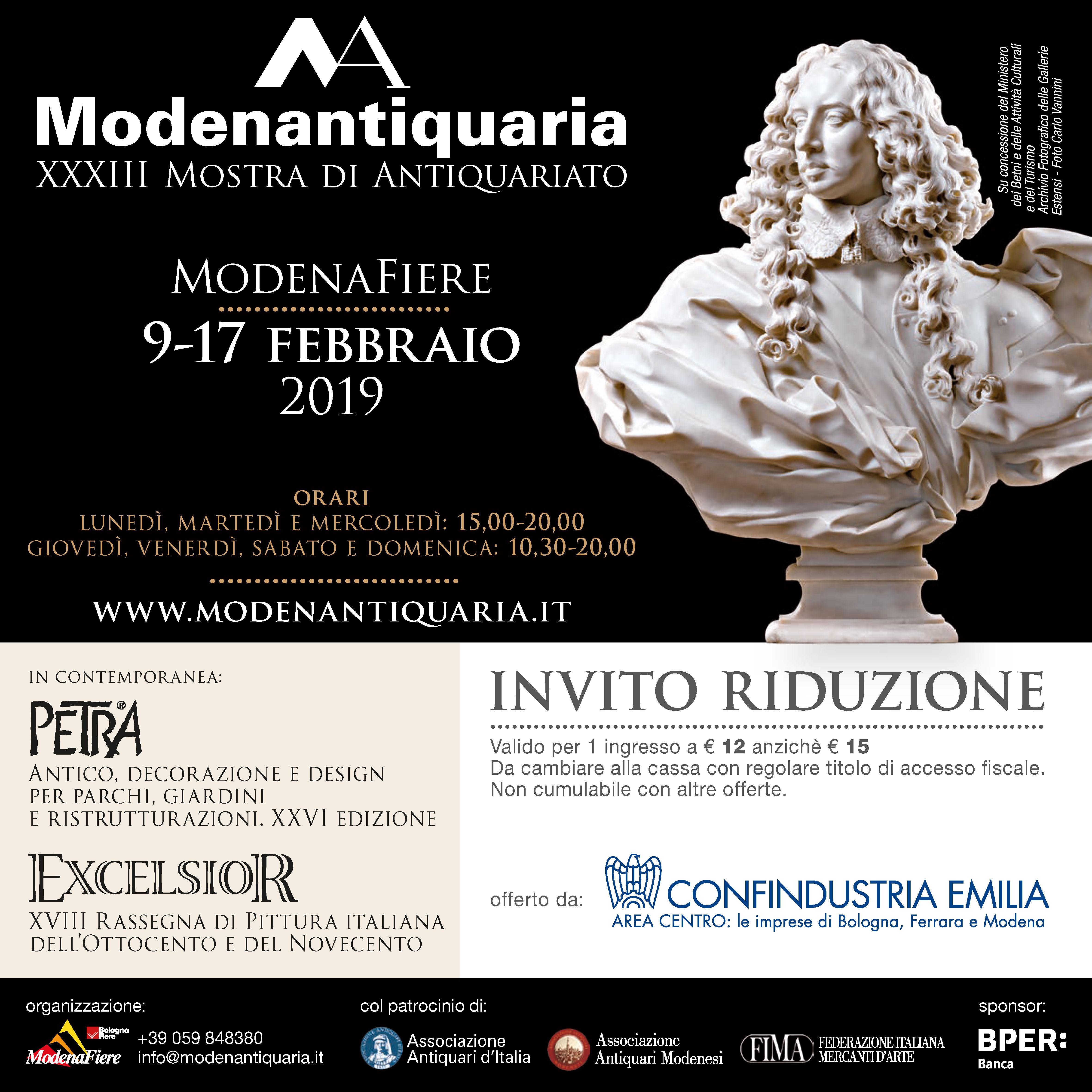 Modena Antiquaria – Acquisto biglietti a tariffa ridotta per i soci