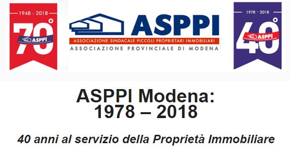 Convegno ASPPI Modena: 1978 – 2018, 40 anni al servizio della Proprietà Immobiliare