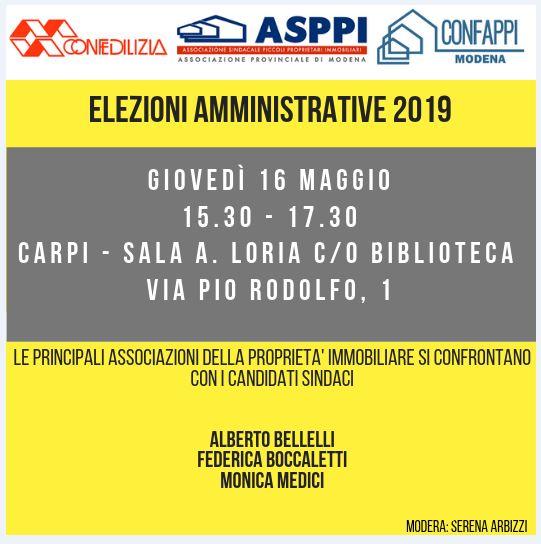 Incontro coi candidati sindaci di Carpi
