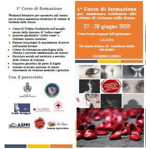 1° Corso di formazione per assistenza telefonica alle vittime di violenza sulle donne – 27 – 28 giugno 2020